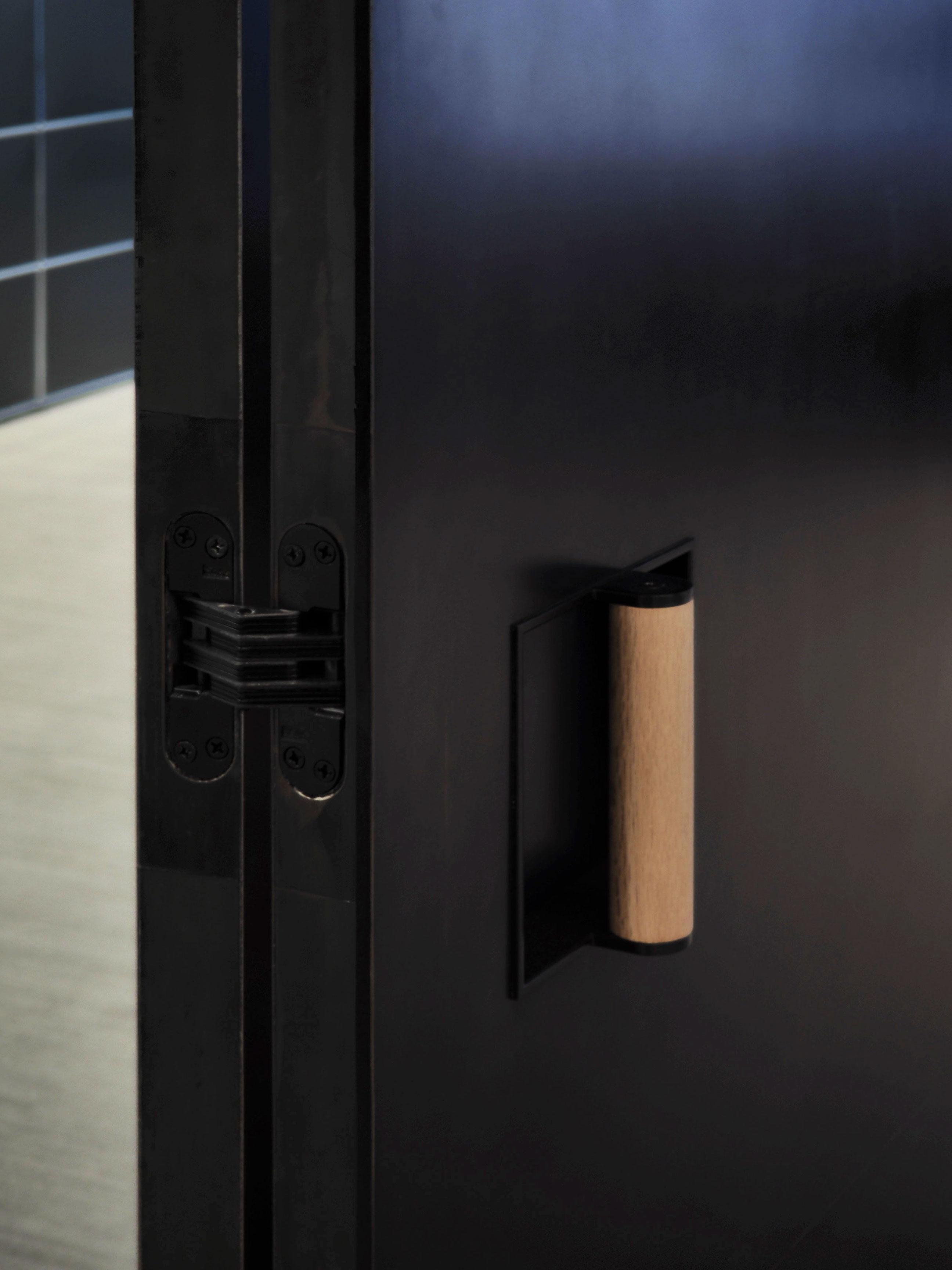 Pivot Blackened Stainless Steel Door